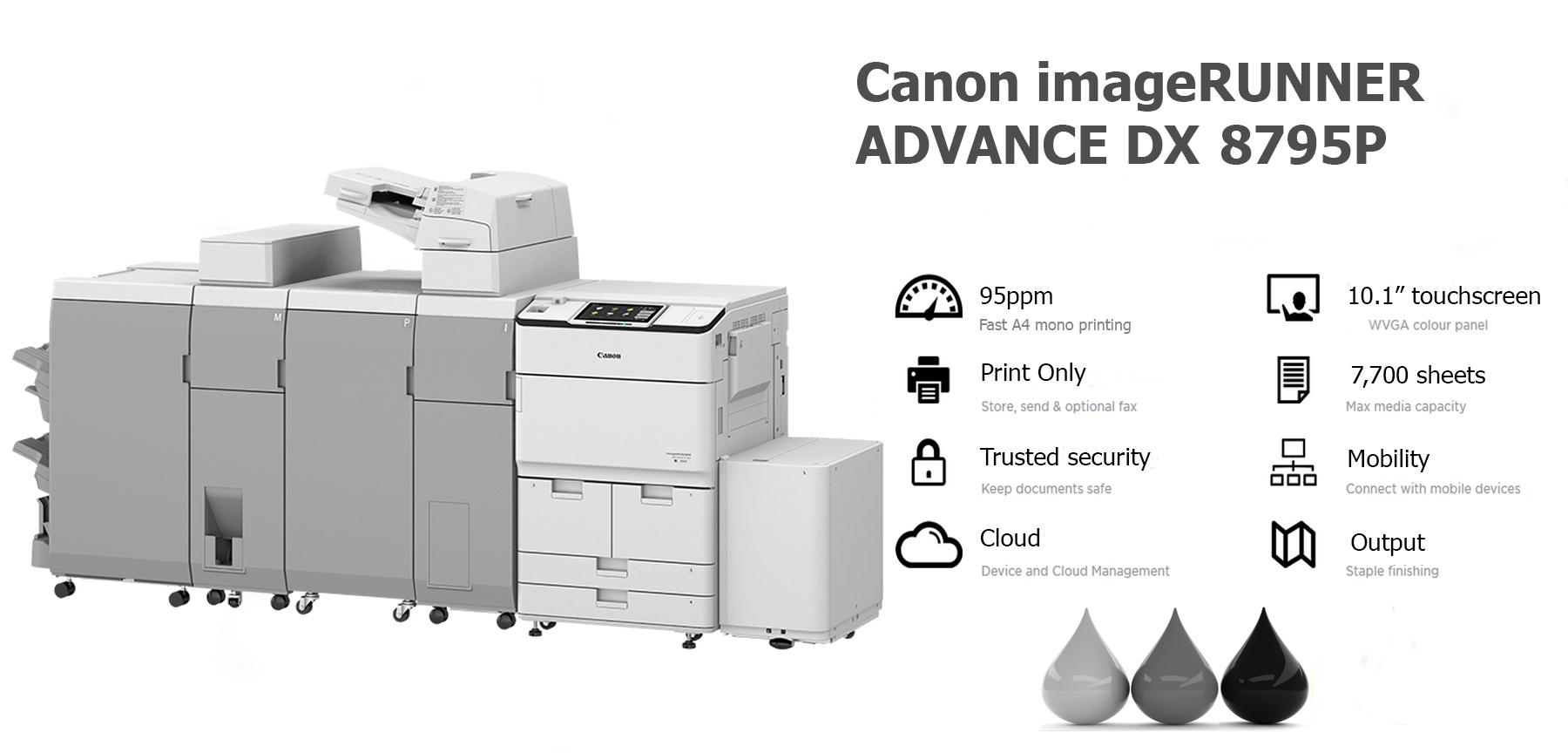 Canon imageRUNNER ADVANCE DX 8795P PRINTER LEASE RENTAL LANCASHIRE MANCHESTER